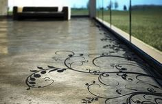 @Silvia Hurtado-Ceballos you have to do this if your gonna do concrete floors in your house! soo pretty!