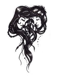 Cool Gemini Tattoo | gemini tattoo by ~SilvaraDragon on deviantART