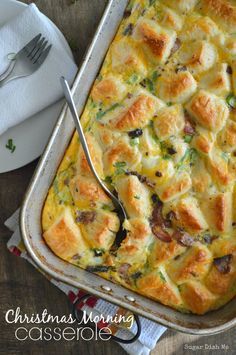 A super simple casserole made with refrigerated biscuits, eggs, cheese, and bacon. Christmas Morning Casserole is perfect for long lazy mornings with family and friends. It is not a holiday in our house without a breakfast casserole. It's like an… Read more ›