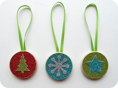 homemade by jill: easy mess free christmas ornaments