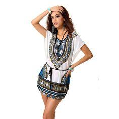 Damen dress-Kleidung prinit for women female african clothing dashiki print  with african shirt designs 125ef301f699