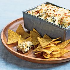 Spinach artichoke dip, from Cooking Light's 20 All-Time Best Recipes.