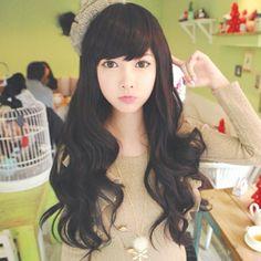 Korean curls. Korean girl. Ulzzang