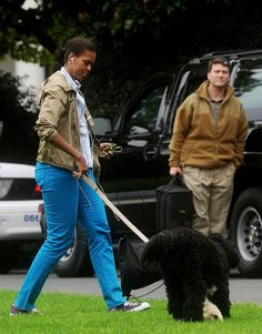 Pin for Later: Michelle Obama Owns Multiple Pairs of This Versatile Sneaker When She Had to Walk the Dog