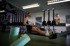 Rowing machine workout (by the Cambridge University rowing team)   British GQ