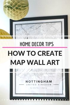 Great idea on how to create map wall art based on your city, town or where you live. I just love these map posters from Mapiful, they're so contemporary and on trend. Ideal for wall art and wall collages around the home Love Wall Art, Map Wall Art, Decorating Your Home, Diy Home Decor, Map Collage, Map Posters, Consignment Shops, Scandi Style, Modern Wall Decor