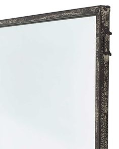 Window Pane Mirror Distressed Black Metal Frame 6 Panes H 118cm