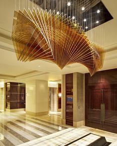 Four Seasons Hotel, Beijing by Hirsch Bedner Associates Architects (HBA)    Ceiling installation, multiple