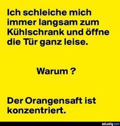 Langsam die Kühlschranktür öffnen - #konzentriert #langsam #leise #orangensaft #schleichen