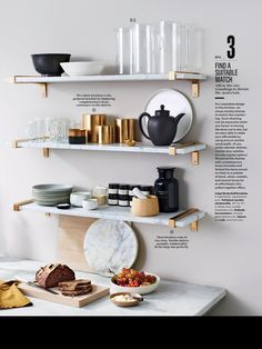 Gold Floating Shelves Fascinating Marble Mix & Match Wall Shelf Collection  V2  Displayed Design Ideas
