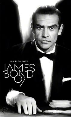 Dynamite 007 Cover by DanielMurrayART on DeviantArt James Bond Movie Posters, James Bond Movies, Sean Connory, George Lazenby, James Bond Style, Black And White Comics, Timothy Dalton, King In The North, Pierce Brosnan