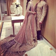 Beautiful bridalwear Not so keen on the groom's outfit or the fact that he looks intimidated by his bride lol Pakistani Models, Pakistani Wedding Dresses, Indian Dresses, Indian Outfits, Pakistani Outfits, Faraz Manan, Bridal Hijab, Wedding Outfits, Bridal Lehenga
