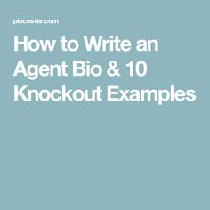 Learn how to write a real estate agent bio and use these 10 knockout real estate agent bio examples as a guide. With these real estate agent bio tips you'll soon be generating leads online as quick as can be. Real Estate Career, Real Estate Leads, Real Estate Business, Selling Real Estate, Real Estate Broker, Real Estate Sales, Real Estate Investing, Real Estate Marketing, Real Estate Office
