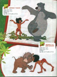The Jungle Book ~ punto de cruz Disney 9