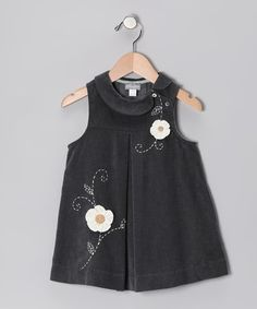 Take a look at this Gray Daisy Albertine Dress - Toddler & Girls by Alouette on #zulily today!