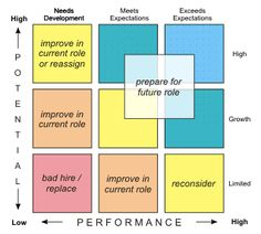 Nine Leadership Development Strategies for a Performance and Potential Matrix-self improvement, where do I fall? Change Management, Talent Management, Management Tips, Project Management, Management Development, Leadership Development, Leadership Goals, Leadership Quotes, Professional Development