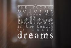 The future belongs t