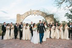 Every wedding needs a wedding party like this one!   Ian's Chapel   Whim Floral   Chealsea Q. White Photography   Camp Lucy   Wedding Venue   Destination Weddings   Hill Country   Weddings   Wedding Inspiration  