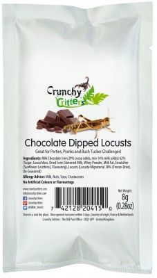 Chocolate Dipped Locusts - 8g