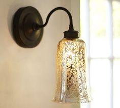 Brantley Antique Mercury Glass Chandelier | Pottery Barn