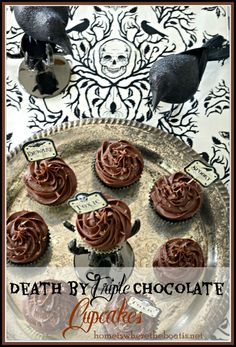Death by Triple Chocolate Cupcakes