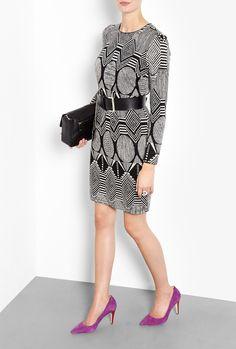 Graphic Jacquard Jersey Dress by MW Matthew Willamson Matthew Williamson, Fashion Outlet, Discount Designer, My Wardrobe, Branding Design, Your Style, Fashion Design, Shopping, Dresses