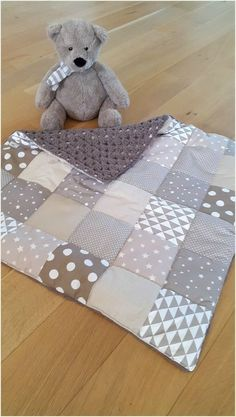New Baby Blanket Knitted Patchwork 51 Ideas Knitted Baby Blankets, Baby Blanket Crochet, Crochet Baby, Patchwork Blanket, Patchwork Baby, Patchwork Quilting, Quilt Baby, Trendy Baby, Baby Quilts