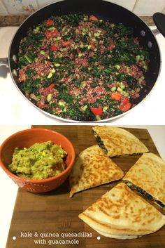 Kale and quinoa quesadillas are a delicious and filling vegetarian ...