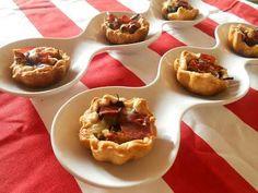 Tartellette con carciofi, fontina e speck http://www.unadonnaalpc.it/cucina/antipasti/involtini-di-formaggio/
