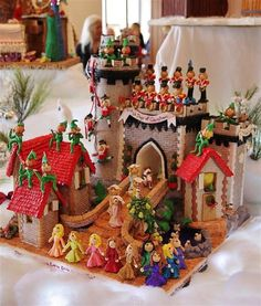 12 days of Christmas gingerbread castle
