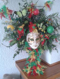 Carnavals bloemstuk