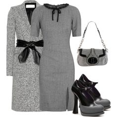A fashion look from August 2013 featuring chain dress, belted coat and two tone shoes. Browse and shop related looks. Daily Fashion, Trendy Fashion, Plus Size Fashion, Fashion Beauty, Fashion Looks, Womens Fashion, Classy Dress, Classy Outfits, Beautiful Outfits