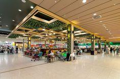 Wetherill Park Shopping Centre – Become. Shoe Store Design, Mall Design, Shopping Mall Interior, Shopping Malls, Online Shopping, Food Court, Park Shop, Pokemon Go, Shop Interior Design
