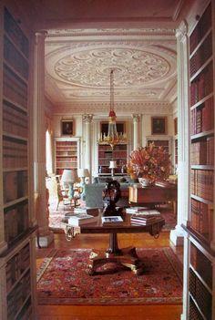 LIBRARY – Sitting Library, Woburn Abbey, Bedfordshire, England, UK
