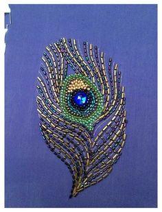 Bead Embroidery Tutorial, Aari Embroidery, Embroidery Neck Designs, Hand Embroidery Videos, Bead Embroidery Patterns, Embroidery Works, Bead Embroidery Jewelry, Hand Embroidery Stitches, Embroidery Fashion