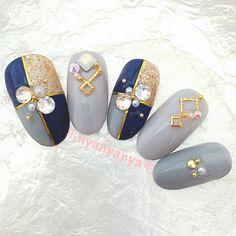 Creative Nail Designs, Creative Nails, Nail Art Designs, Korean Nail Art, Korean Nails, Nail Art Techniques, Gray Nails, Feet Nails, Cute Nail Art