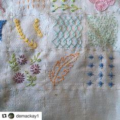 @demackay1 #sampler #textiledesign #embroidery #bordado #broderie #ricamo #handembroidery #needlework