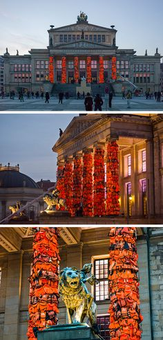 Ai Weiwei Wraps the Columns of Berlin's Konzerthaus with 14,000 Salvaged Refugee Life Vests