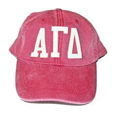cd81b74bf179b Alpha Gamma Delta - Appliqué Hat  30.00 Greek Gifts