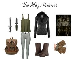 """The Maze Runner"" by greduzzi on Polyvore featuring French Connection, Ally Fashion, Steve Madden and Whetstone Cutlery"