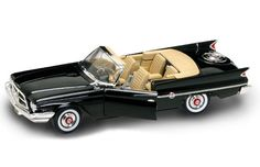 1:18 Scale Yat Ming Road Signature   1960 Chrysler 300F Black  Die-cast.     Specifications:  * 1:18 Scale Die-cast with Plastic Parts.  * Exterior Color:  Black.  * Interior Color:  Tan.  * Detailed Interior.  * Opening Doors.  * Opening Hood.  * Steerable Front Wheels.  * Detailed Engine Compartment.  * Black Rubber Tires.
