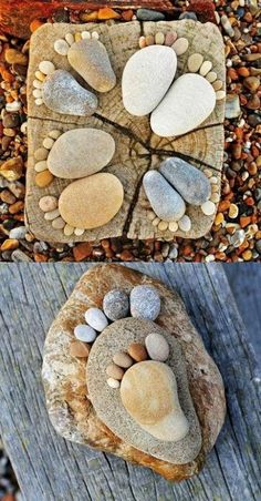 "Compartimos otra idea de decoracion Diy con algo tan simple y economico como son las "" piedras ""."