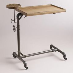 Would this work for Steve's sit stand desk? WorldMarket.com: Adjustable Laptop Table
