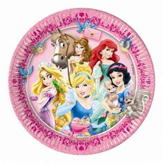 8 Disney Princess Paper Plates