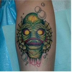 Creature From the Black Lagoon Tattoo by Kristi at East Side Ink - NYC    Statigram – Instagram webviewer