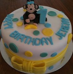 Cheeky Monkey Cake #1stBirthday #CheekyMonkey