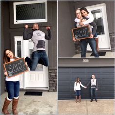 Cute photo ideas for your first home #couplesphotography #firsthome #sold #photoshoot
