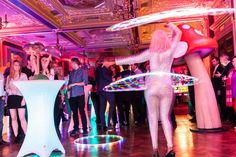 Our #psychedelic #event at Cafe Royal in #London featured our superb #superhoopers #hoop #lights #circus #hippy #sixties #fun
