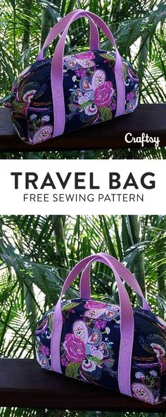 Sew your own travel bag. This sewing pattern is perfect beginner project. Register with Craftsy to download the FREE Sunday My Way Bag sewing pattern!
