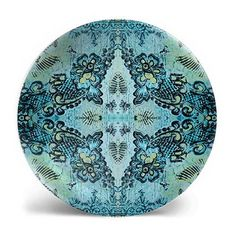 Bohemian Rose Lace Print Melamine Plate in two colors